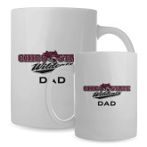 Dad Full Color White Mug 15oz-Wildcat Head Chico State