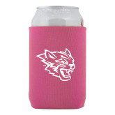 Neoprene Hot Pink Can Holder-Wildcat Head
