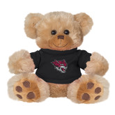 Plush Big Paw 8 1/2 inch Brown Bear w/Black Shirt-Wildcat Head