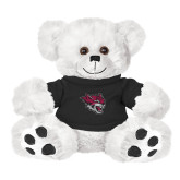Plush Big Paw 8 1/2 inch White Bear w/Black Shirt-Wildcat Head