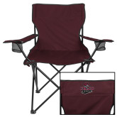 Deluxe Maroon Captains Chair-Wildcat Head Chico State