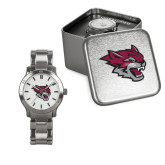 Ladies Stainless Steel Fashion Watch-Wildcat Head