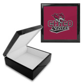 Ebony Black Accessory Box With 6 x 6 Tile-Wildcat Head Chico State