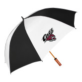 62 Inch Black/White Umbrella-Cats w/Wildcat Head