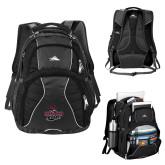 High Sierra Swerve Black Compu Backpack-Wildcat Head Chico State