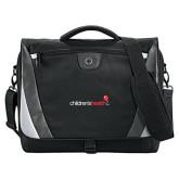 Slope Black/Grey Compu Messenger Bag-Childrens Health Logo