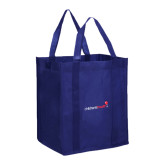 Non Woven Navy Grocery Tote-Childrens Health Logo
