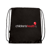 Black Drawstring Backpack-Childrens Health Logo