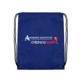 Royal Drawstring Backpack-Andrews Institute Logo