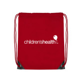 Red Drawstring Backpack-Childrens Health Logo