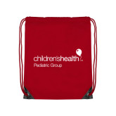 Red Drawstring Backpack-Pediatric Group