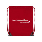 Red Drawstring Backpack-Our Childrens House