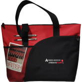 Excel Red Sport Utility Tote-Andrews Institute Logo