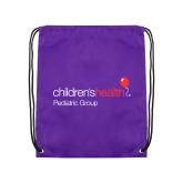 Purple Drawstring Backpack-Pediatric Group