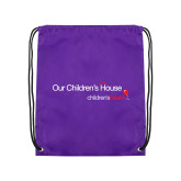 Purple Drawstring Backpack-Our Childrens House