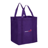 Non Woven Purple Grocery Tote-Childrens Health Logo