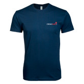 Next Level SoftStyle Navy T Shirt-Childrens Health Logo