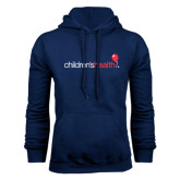 Navy Fleece Hoodie-Childrens Health Logo