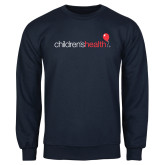 Navy Fleece Crew-Childrens Health Logo