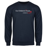 Navy Fleece Crew-Our Childrens House