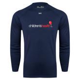 Under Armour Navy Long Sleeve Tech Tee-Childrens Health Logo