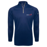 Under Armour Navy Tech 1/4 Zip Performance Shirt-Childrens Health Logo
