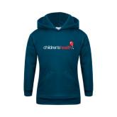 Youth Navy Fleece Hoodie-Childrens Health Logo