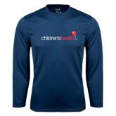 Performance Navy Longsleeve Shirt-Childrens Health Logo