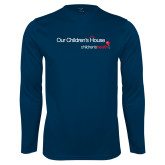 Performance Navy Longsleeve Shirt-Our Childrens House