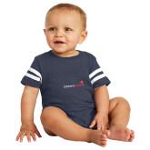 Vintage Navy Jersey Onesie-Childrens Health Logo