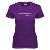 Ladies Purple T Shirt-Our Childrens House