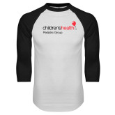White/Black Raglan Baseball T Shirt-Pediatric Group
