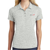 Ladies Silver Electric Heather Polo-Childrens Health Logo