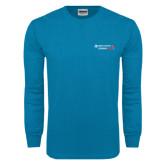Sapphire Long Sleeve T Shirt-Andrews Institute Logo