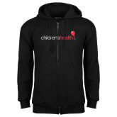 Black Fleece Full Zip Hoodie-Childrens Health Logo