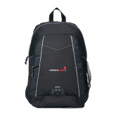 Impulse Black Backpack-Childrens Health Logo