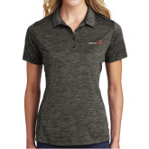 Ladies Charcoal Electric Heather Polo-Childrens Health Logo