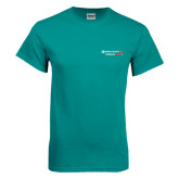 Teal T Shirt-Andrews Institute Logo