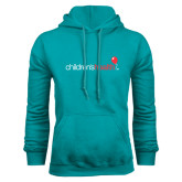 Teal Fleece Hoodie-Childrens Health Logo