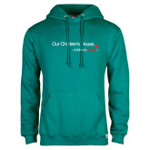 Teal Fleece Hoodie-Our Childrens House