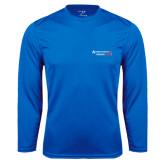 Performance Royal Longsleeve Shirt-Andrews Institute Logo
