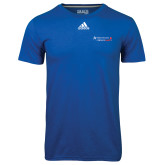Adidas Climalite Royal Ultimate Performance Tee-Andrews Institute Logo