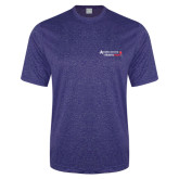 Performance Royal Heather Contender Tee-Andrews Institute Logo