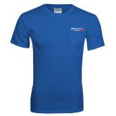 Royal T Shirt w/Pocket-Andrews Institute Logo