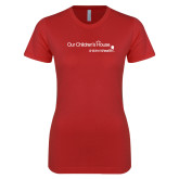 Next Level Ladies SoftStyle Junior Fitted Red Tee-Our Childrens House