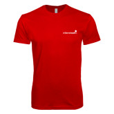 Next Level SoftStyle Red T Shirt-Childrens Health Logo