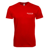 Next Level SoftStyle Red T Shirt-Andrews Institute Logo
