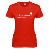 Ladies Red T Shirt-Pediatric Group