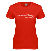 Ladies Red T Shirt-Our Childrens House
