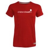 Ladies Russell Red Essential T Shirt-Childrens Health Logo